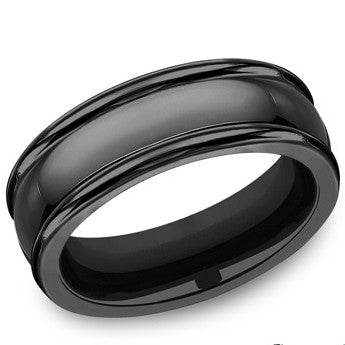 Benchmark 7.5mm Black Titanium Wedding Band
