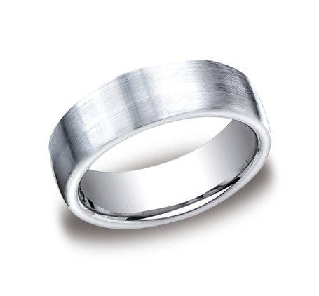Benchmark 7.5mm Satin Finish Wedding Band