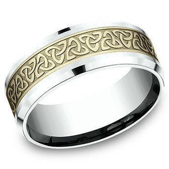 Benchmark 8mm Celtic Love Knot Wedding Band