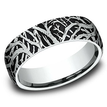 Platinum Benchmark 6.5mm Enchanted Forest Wedding Band