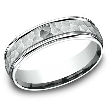 Benchmark 6mm Hammered Wedding Band