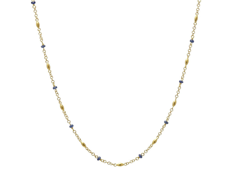 Gurhan Olive Necklace with Faceted Sapphires