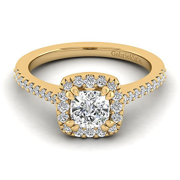 Gabriel & Co 'Carly' Cushion Halo Diamond Engagement Ring
