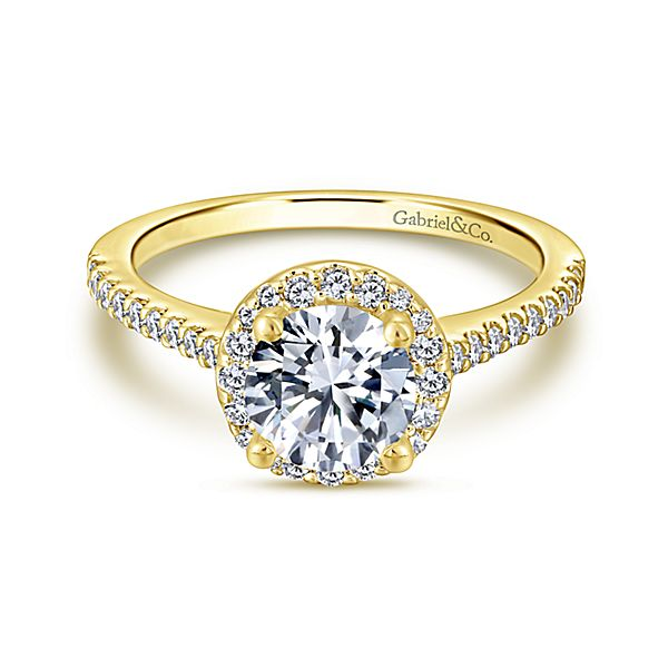 Gabriel & Co 'Carly' Round Halo Diamond Engagement Ring