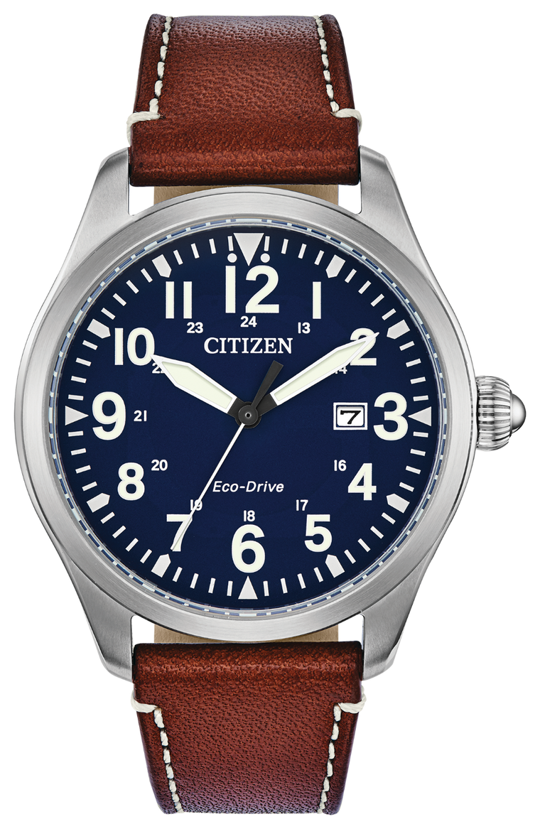 Citizen Chandler 42mm Watch with Blue Dial