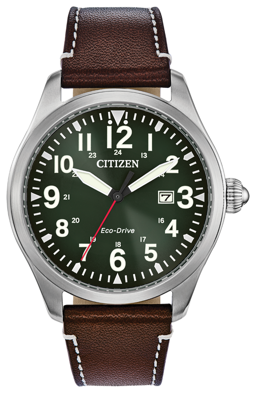 Citizen Chandler 42mm Watch with Green Dial