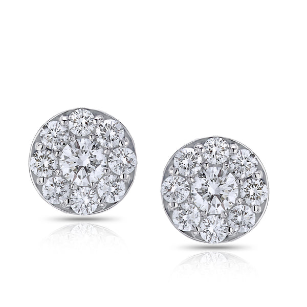 BLM Signature White 18 Karat Stud Earrings