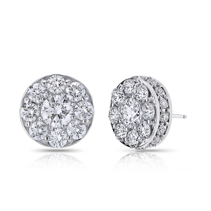 BLM Signature Round Halo Stud Earrings