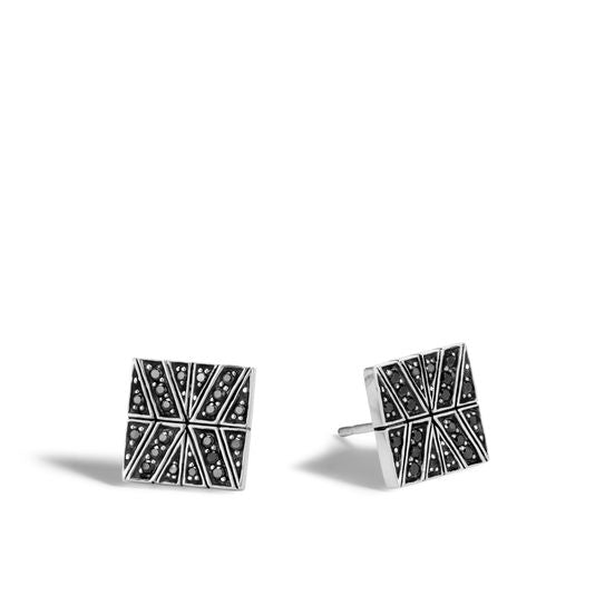 John Hardy Modern Chain Stud Earring with Black Sapphire, Black Spinel