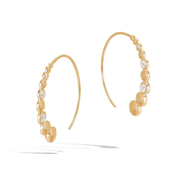 John Hardy Small Dot Hoop Earrings with Diamonds