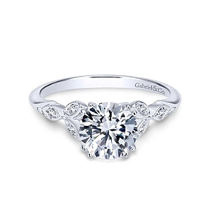Gabriel & Co 'Celia' Diamond Engagement Ring