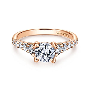 Gabriel & Co 'Reed' Straight Diamond Engagement Ring