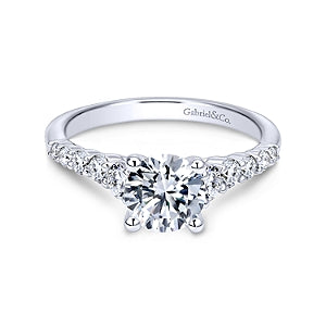 Gabriel & Co 'Reed' Diamond Engagement Ring