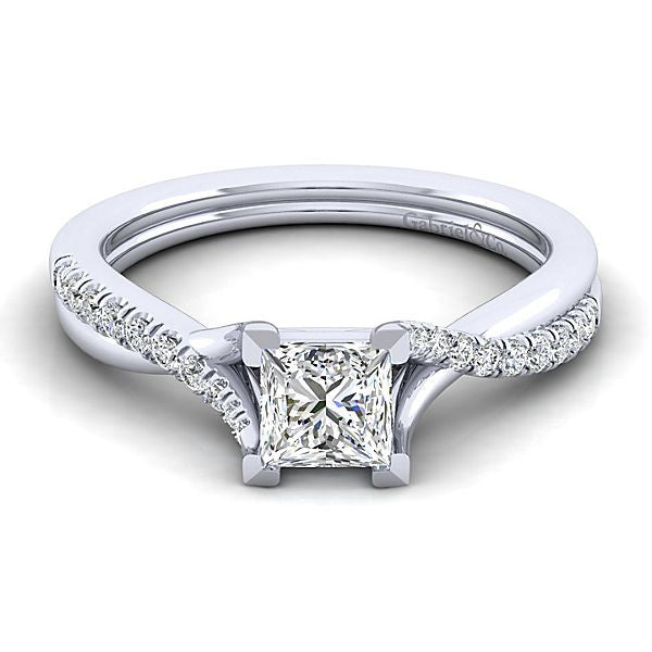 Gabriel & Co 'Leigh' Twist Engagement Ring