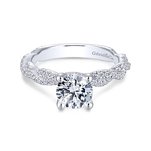 Gabriel & Co 'Nia' Twist Engagement Ring