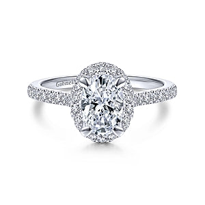 Gabriel & Co 'Idina' Oval Halo Diamond Engagement Ring