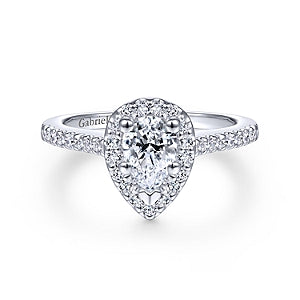 Gabriel & Co 'Paige' Halo Diamond Engagement Ring
