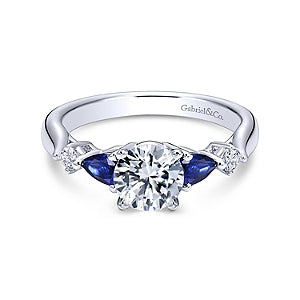 Gabriel & Co 'Carrie' Three Stone Engagement Ring