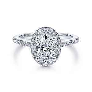 Gabriel & Co 'Carly' Oval Halo Diamond Engagement Ring