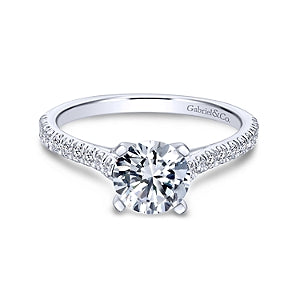 Gabriel & Co 'Joanna' Diamond Engagement Ring