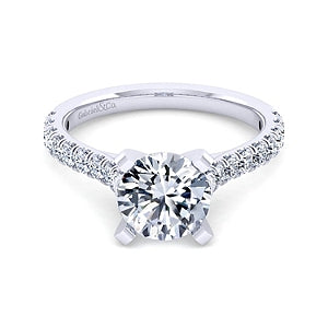 Gabriel & Co 'Erica' Diamond Engagement Ring