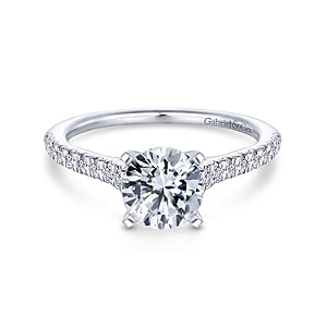 Gabriel & Co 'Jennie' Straight Band Engagement Ring