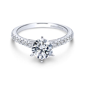 Gabriel & Co 'Sarah' Diamond Engagement Ring