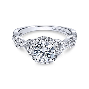 Gabriel & Co 'Marissa' Halo Twist Engagement Ring