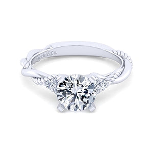 Gabriel & Co 'Catalina' Twist Engagement Ring