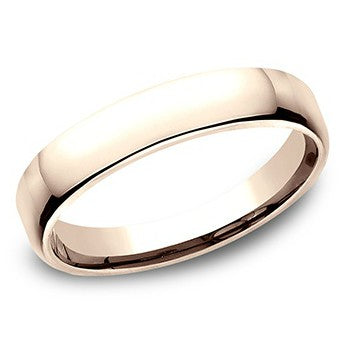 Benchmark 4.5mm 14K Rose Gold Wedding Band