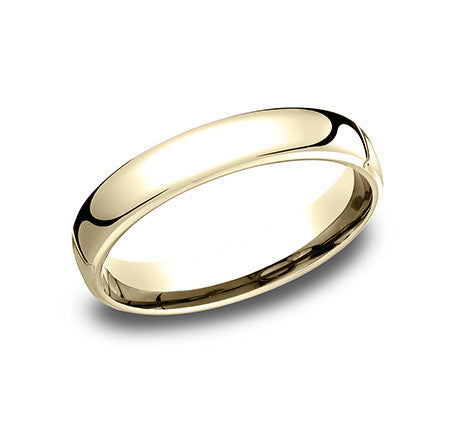 Benchmark 4.5mm 14K Yellow Gold Wedding Band