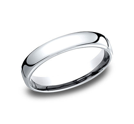 Benchmark 4.5mm 14K White Gold Wedding Band