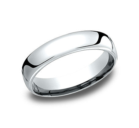 Benchmark 5.5mm 14K White Gold Wedding Band