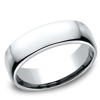 Benchmark 6.5mm Cobalt Comfort Fit Wedding band