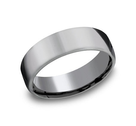 Benchmark 6.5mm High Polish Wedding Band - Tantalum