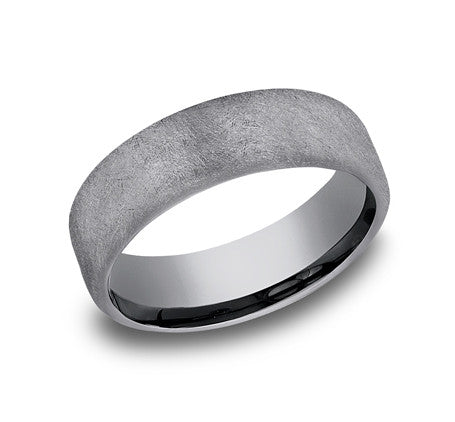 Benchmark 6.5mm Swirl Finish Wedding Band - Tantalum