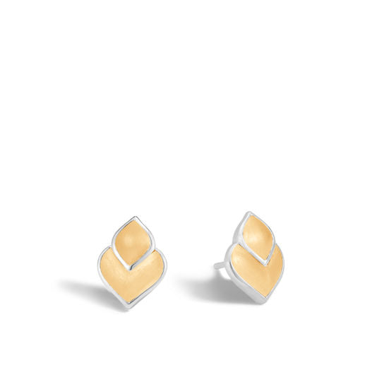Sterling Silver and 18k Yellow Gold Naga Stud Earring