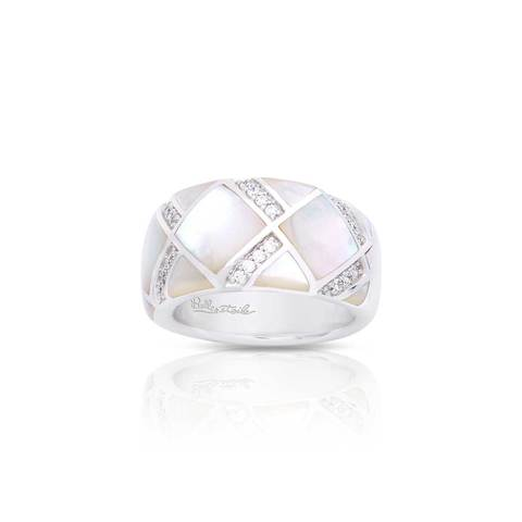 Belle Etoile White Mother of Pearl Echelon Ring