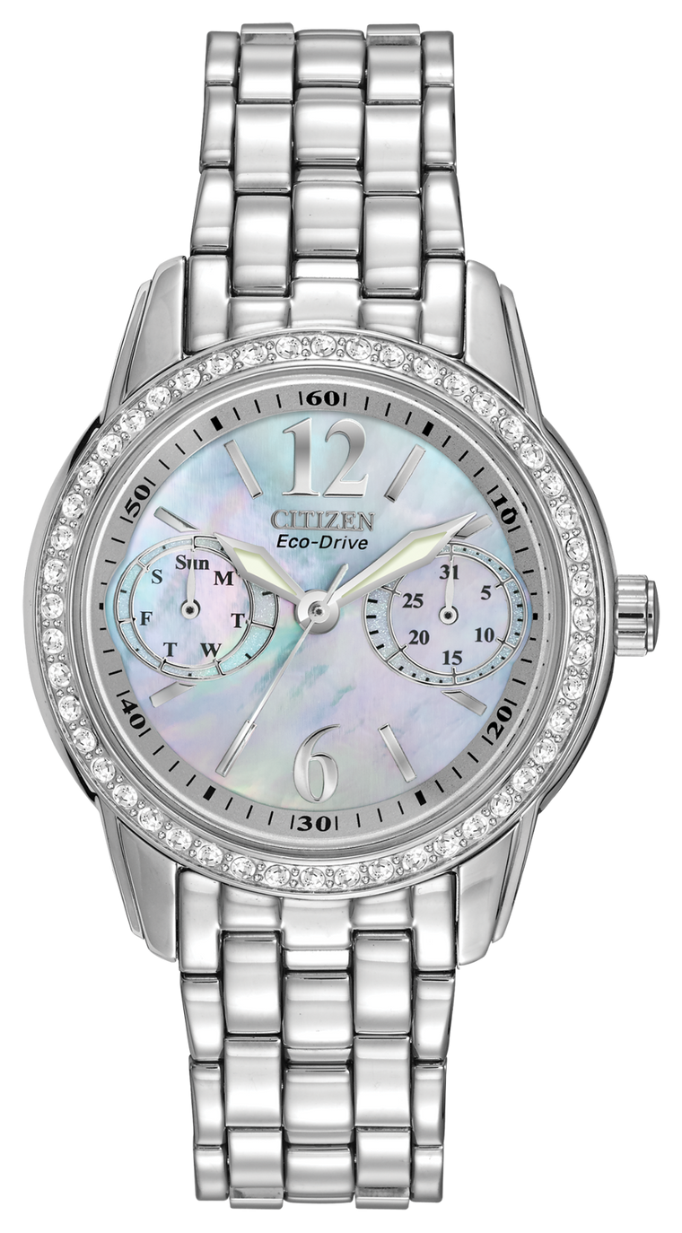 Citizen Silhouette Crystal 32mm Ladies Watch with Mother of Pearl Dial