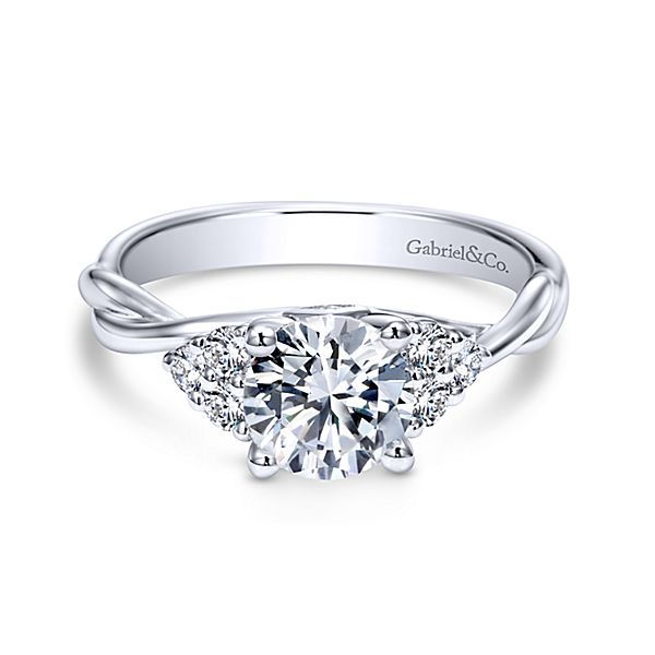 Gabriel & Co 'Frida' Twisted Diamond Engagement Ring