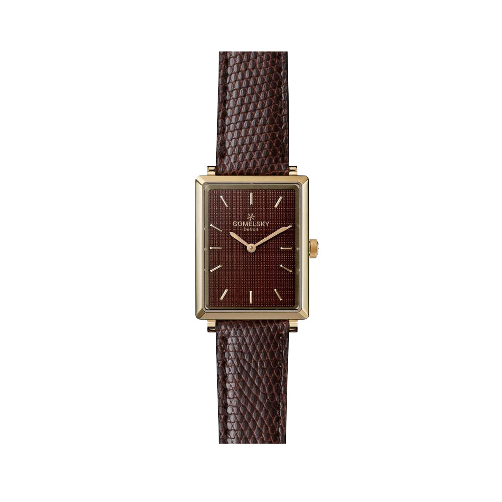 The Gomelsky 'Shirley Fromer' 32mm Watch with Brown Dial