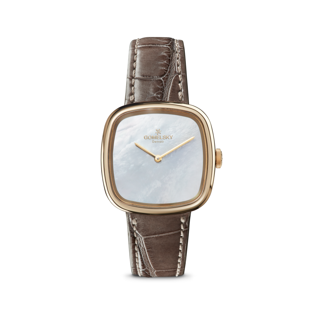 The Gomelsky 'Eppie' 32mm Watch with Mother of Pearl Dial