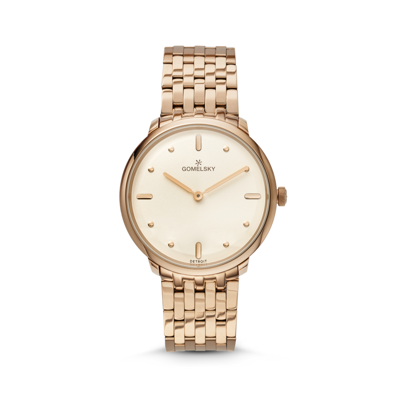 Gomelsky 'Audry' 36mm Watch with Champagne Dial