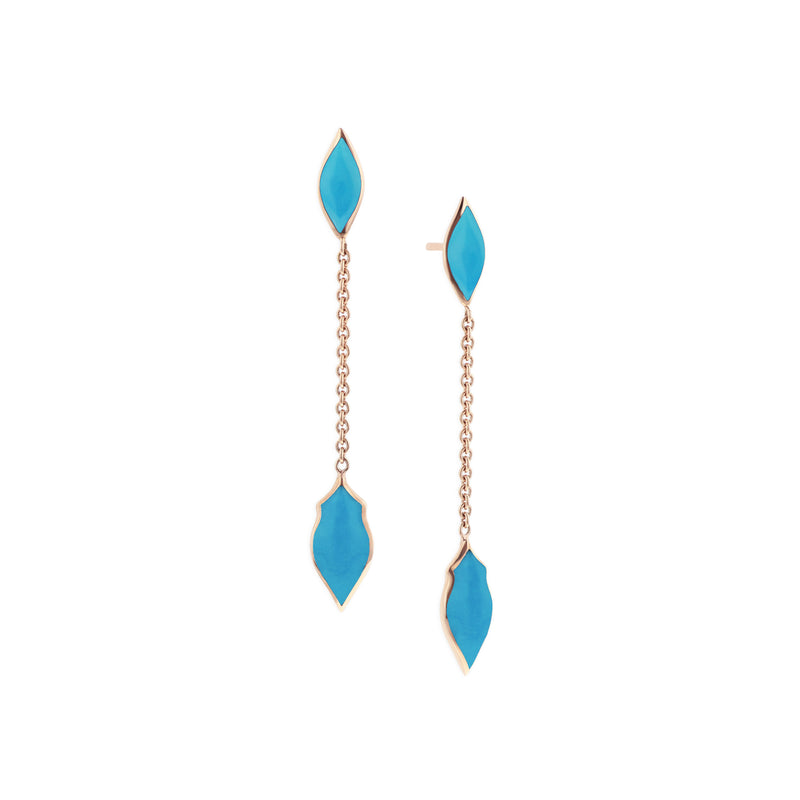 Kabana Turquoise Drop Stud Earrings