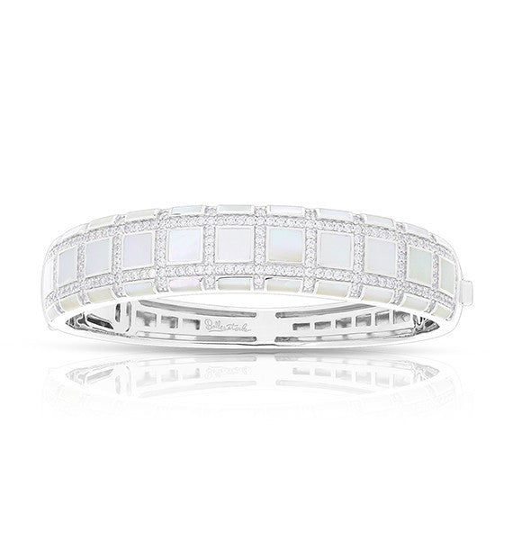 Belle Etoile Regal White Mother-of Pearl Bangle