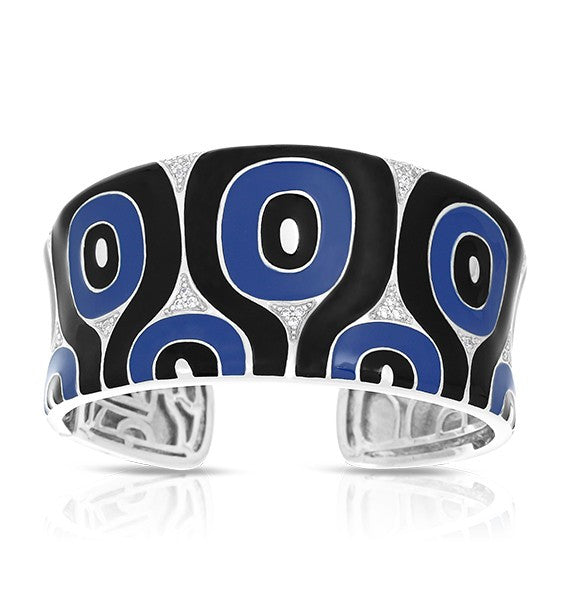 Belle Etoile 'Moda' Blue & Black Bangle Bracelet