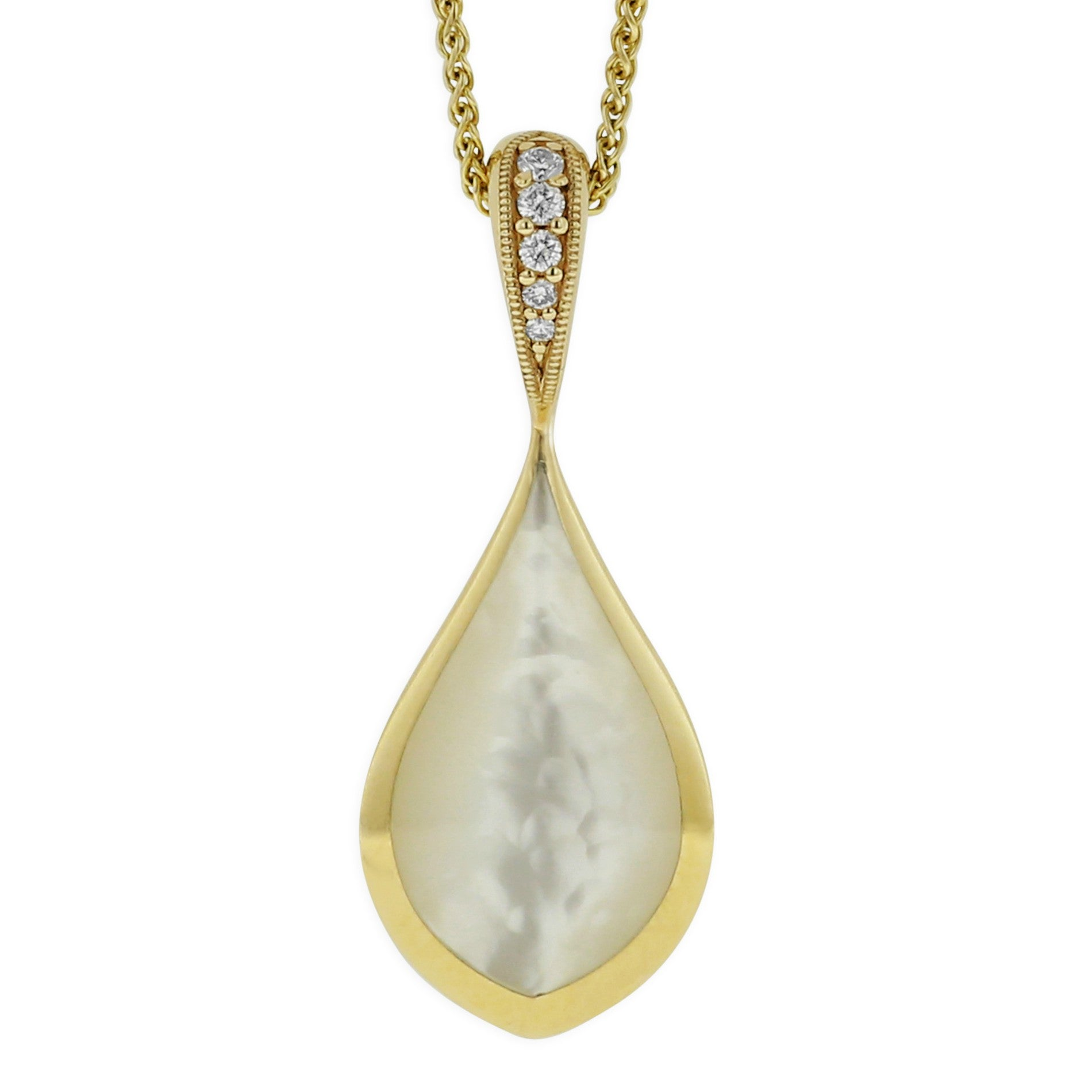 Kabana Pear White Mother of Pearl Pendant