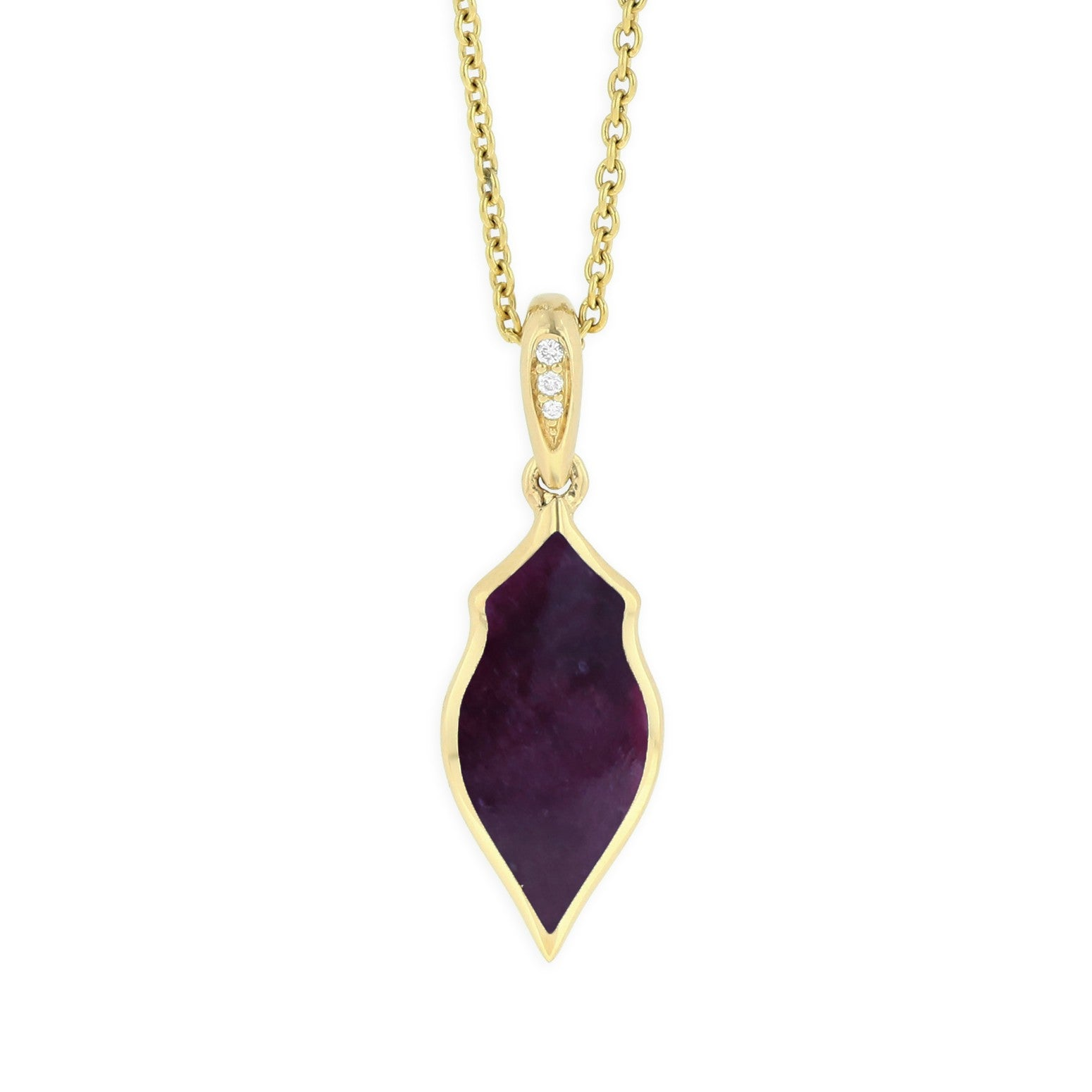 Kabana Alhambra Purple Spiny Oyster Necklace