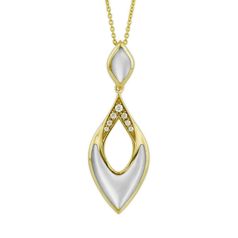 Kabana White Mother of Pearl Drop Necklace