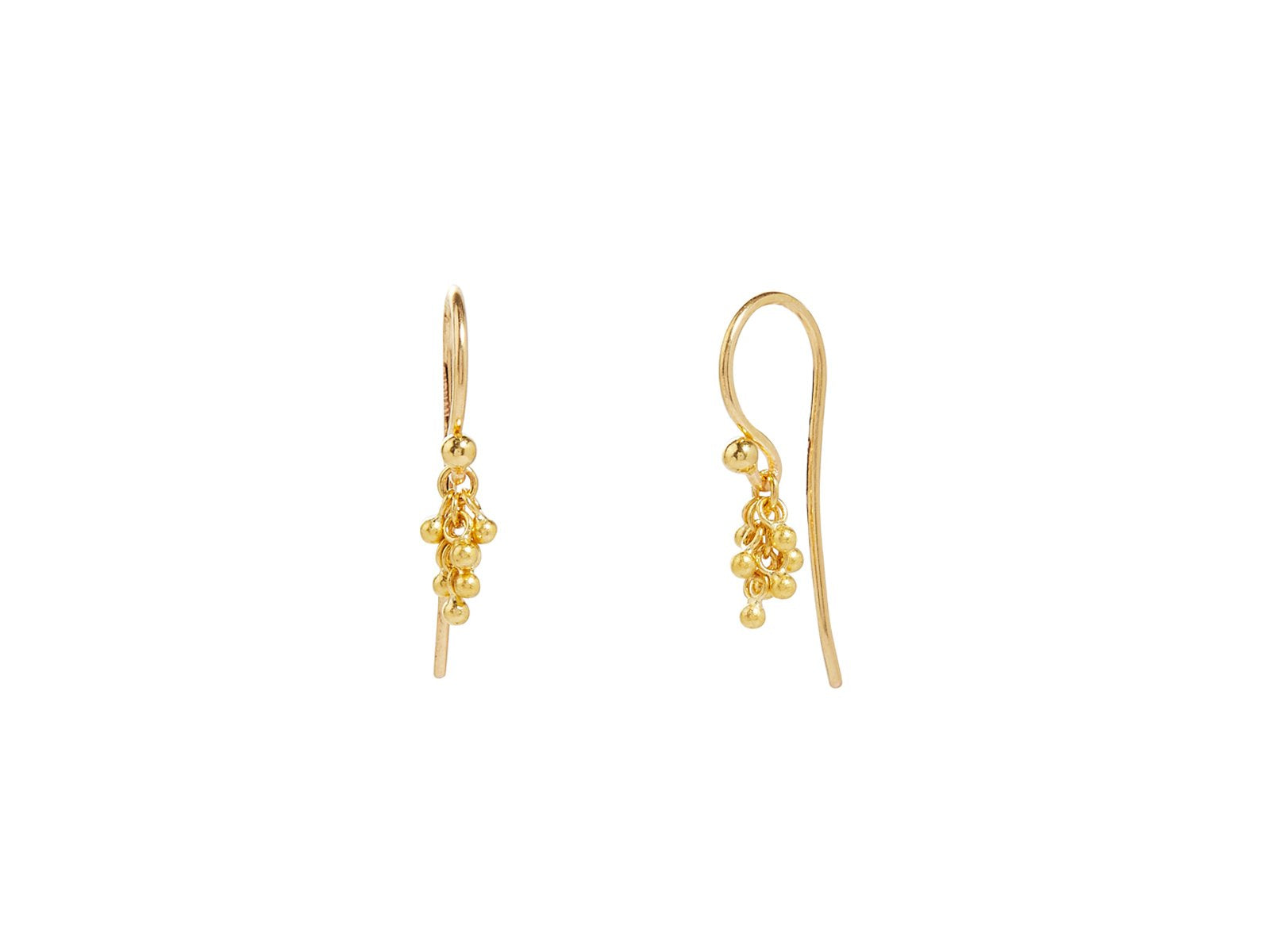 Gurhan Yellow Gold Cluster Drop Earrings